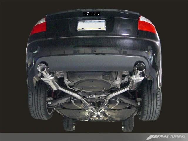 awe tuning exhaust system audi a4 3 0l b6 royal body kits