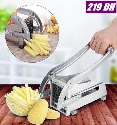 stainless argent presse appareil coupe frites pomme de terre ifoulki shop