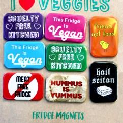 Kitchen Magnets Kate Spade I Heart Veggies Fridge People Power Press For Custom