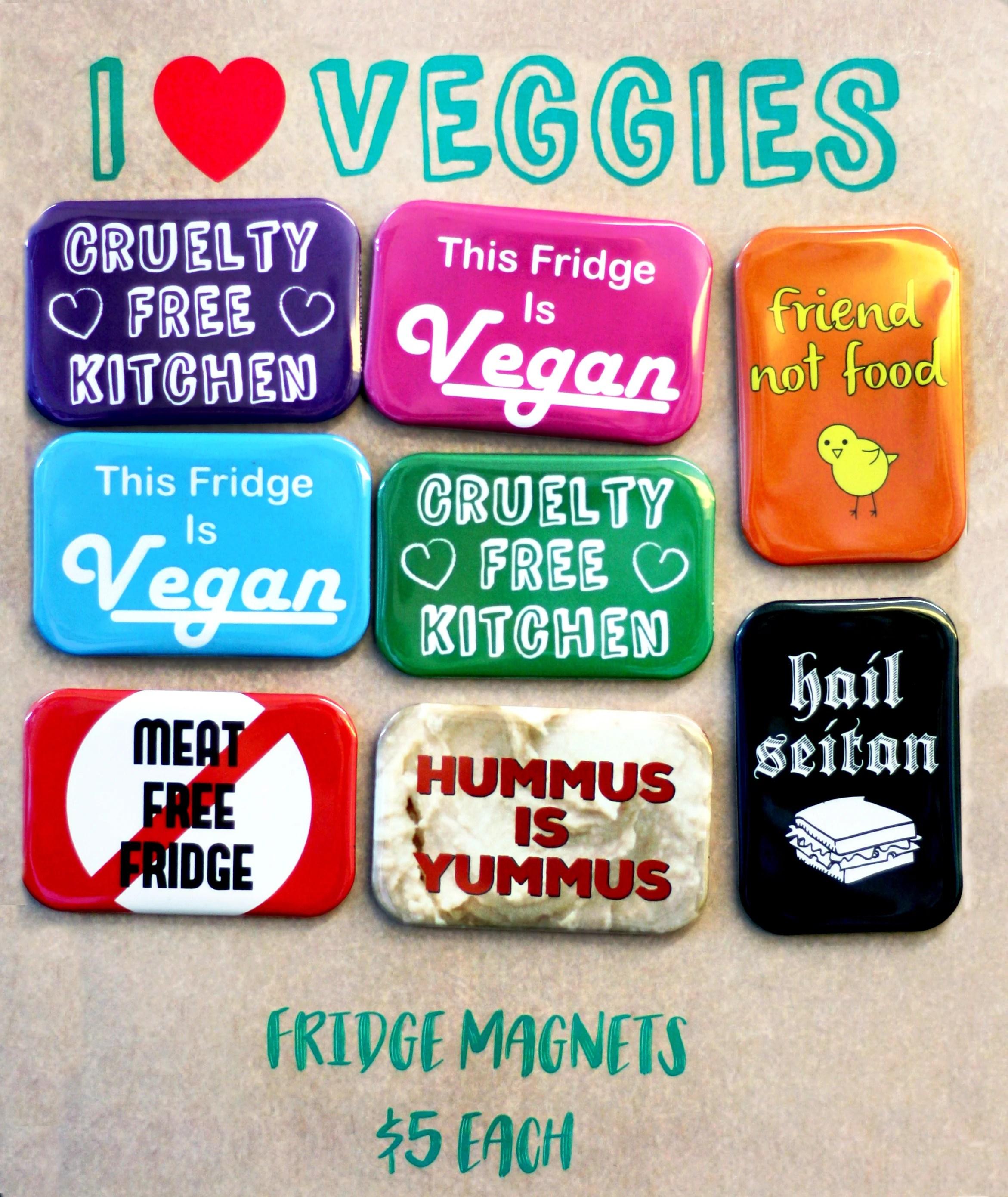kitchen magnets popular paint colors for kitchens i heart veggies fridge people power press custom