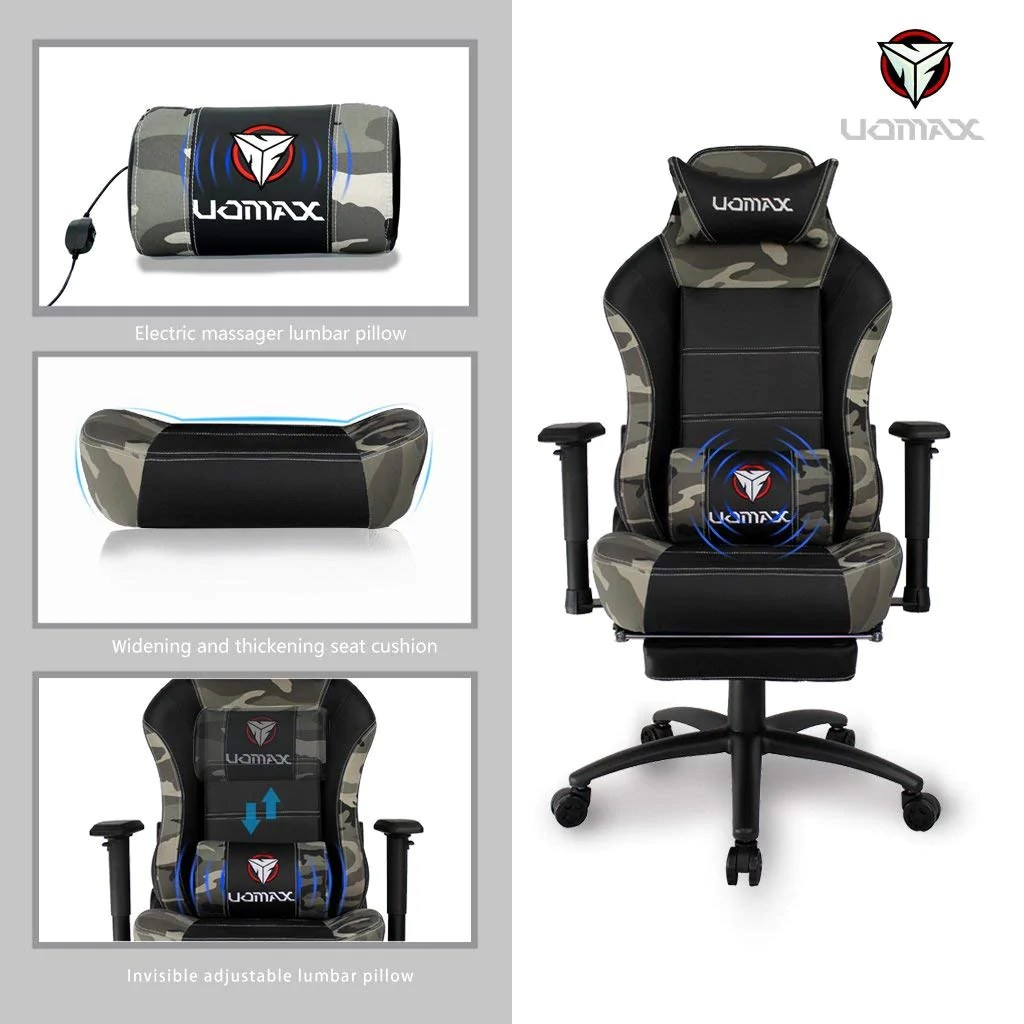 Office Chair Massager Uomax Gaming Chair Racing Style High Back Executive Office Desk Chair Reclining Ergonomic Swivel Racing Chair With Lumbar Massage Function Adjustable
