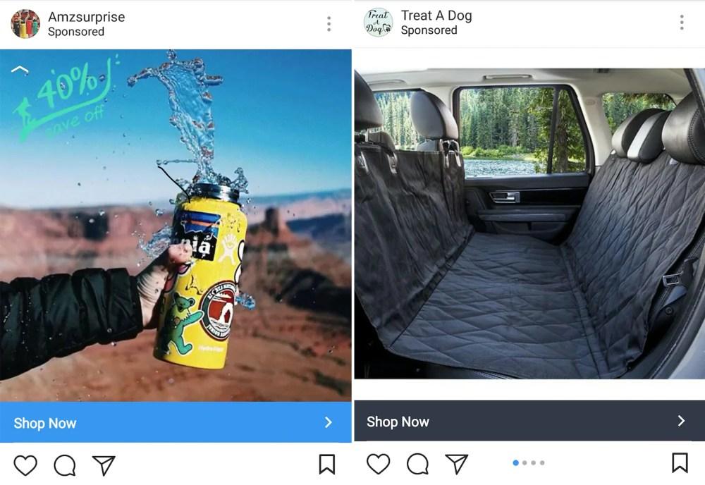 Instagram advertising examples.