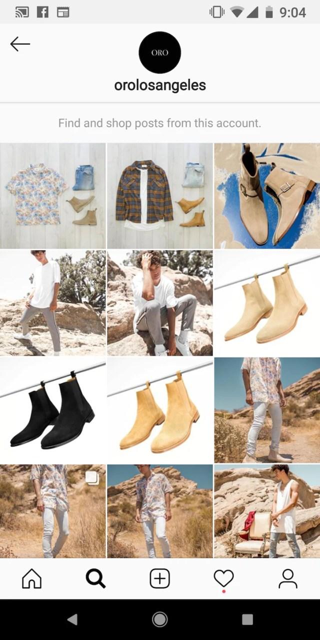 Shopify電商品牌ORO LOS ANGELES善用Instagram社群平台通路。