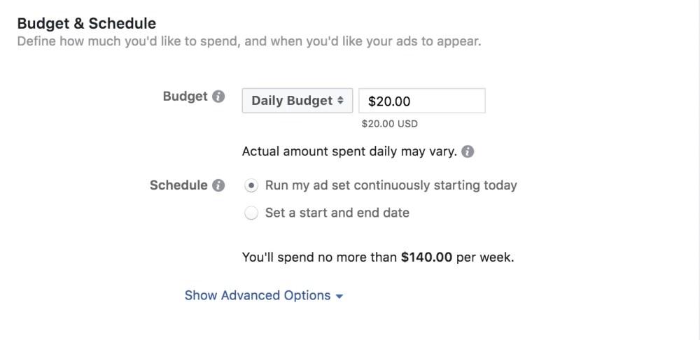 Ad budget.