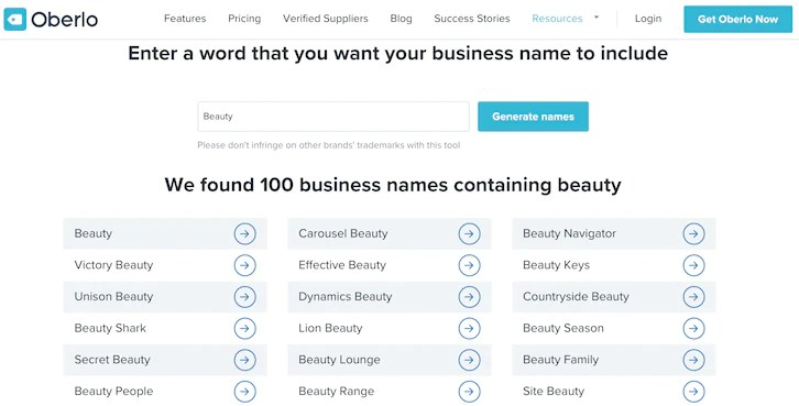 free catchy business names generator # 0