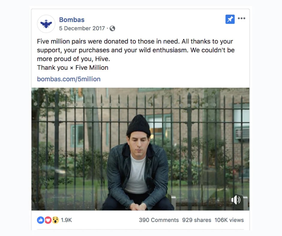 A Facebook ad used for brand building.