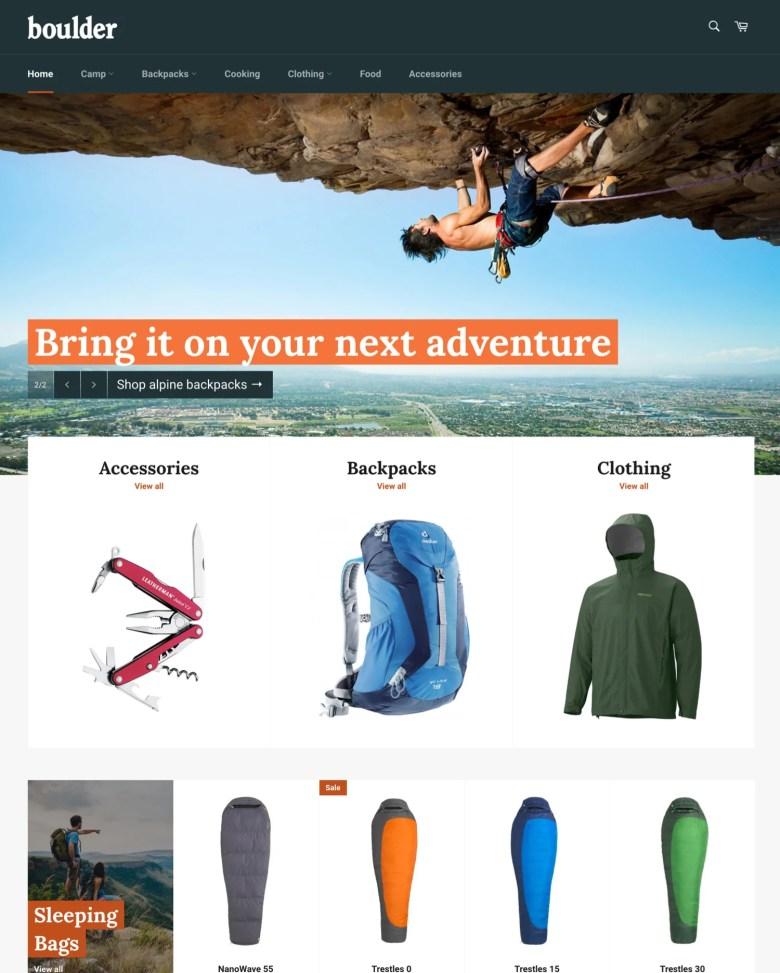 Venture Shopify theme.