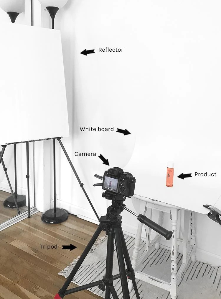 diy natural lighting for product