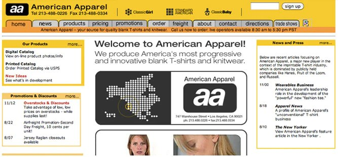 American Apparel - 2001