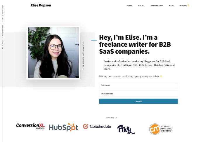 Elise Dopson Freelance Writer