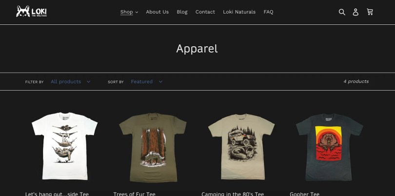 Loki Wolfdog Online Store