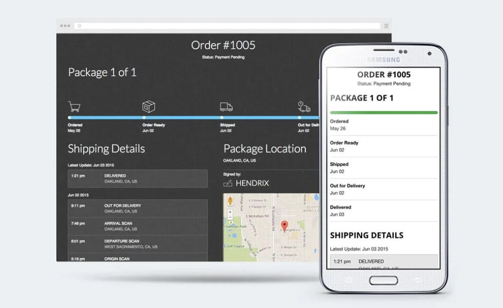 Shopify order tracking