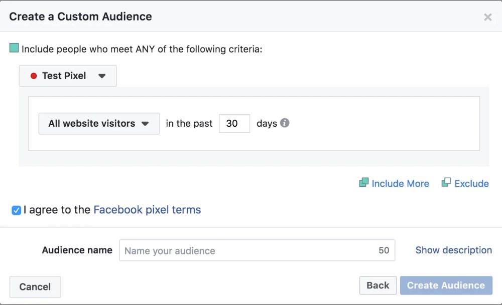 Create a custom audience.
