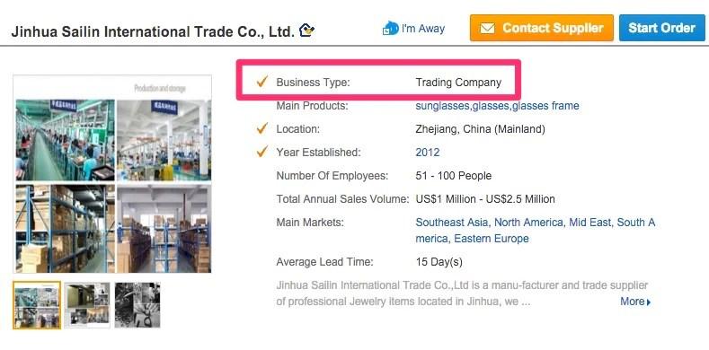 Alibaba тип бизнеса