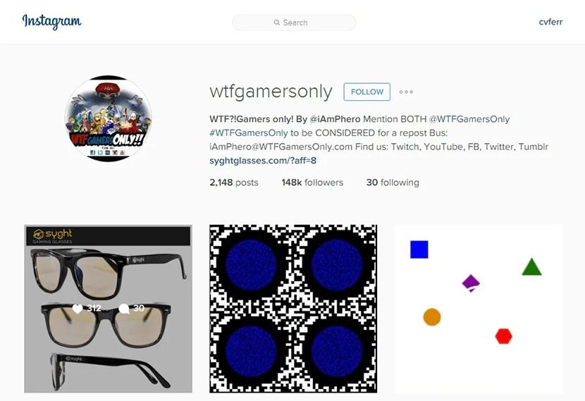 WTFGamersOnly Instagram