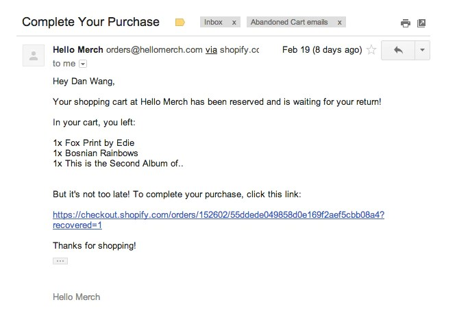 13 Amazing Abandoned Cart Emails And What You Can Learn