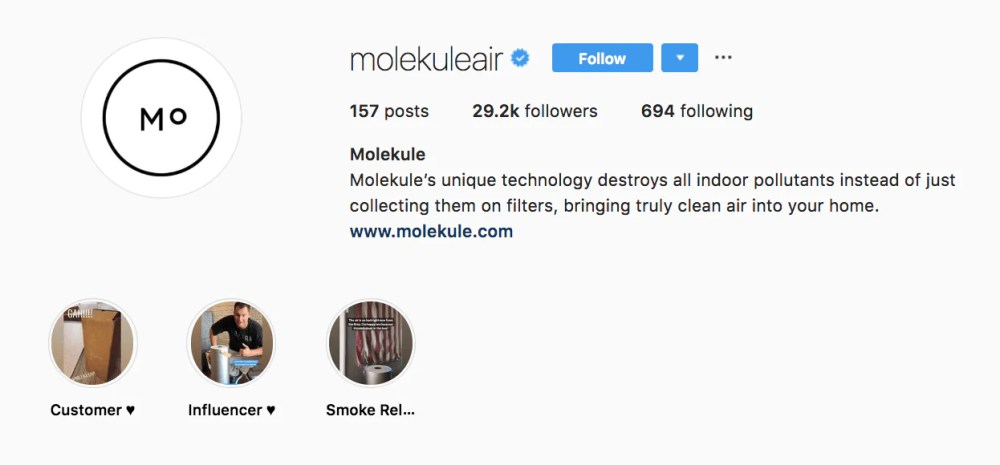 molekule instagram bio