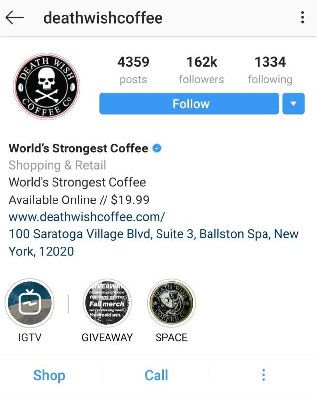 instagram bio action buttons