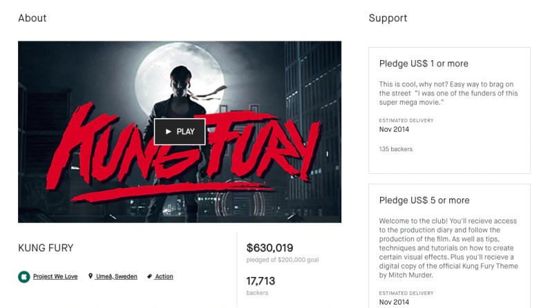 make money on YouTube by Crowdfunding like this popular Kickstarter for Kung Fury, a short film paying homage to '80s action movies.