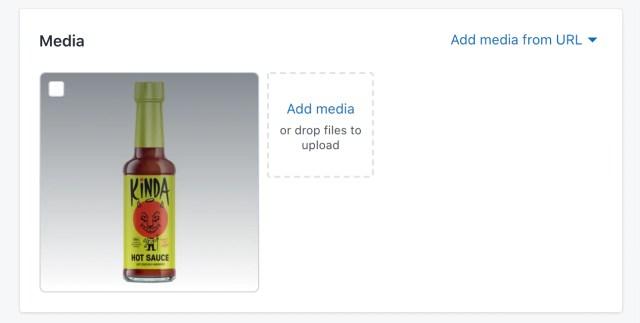 shopify store media upload