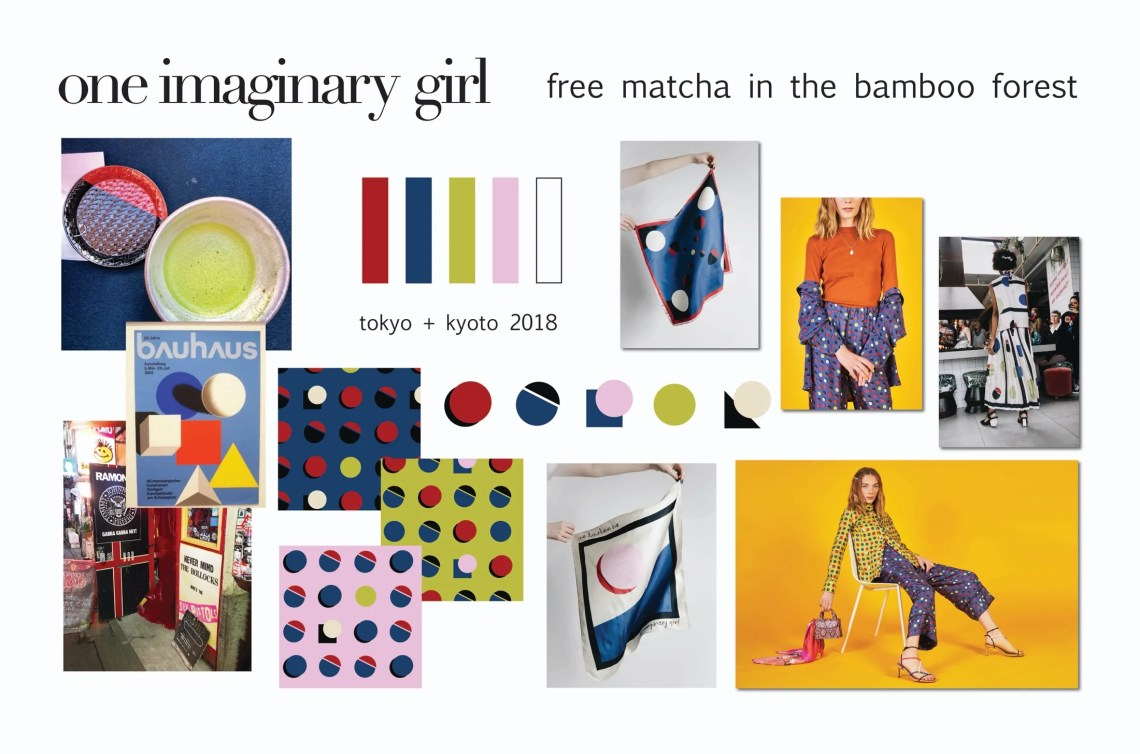 Mood board for a new fashion print by One Imaginary Girl