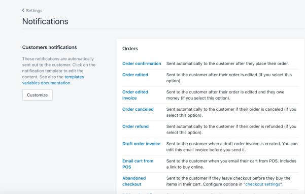 customizing shopify notifications