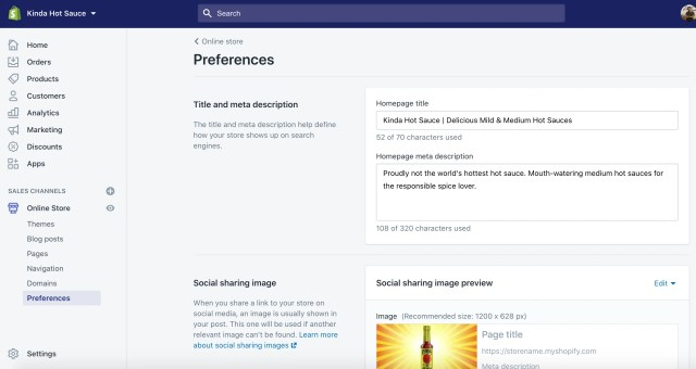 optimizing store for search and social