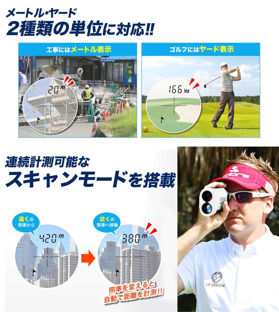 ゴルフ用レーザー距離計