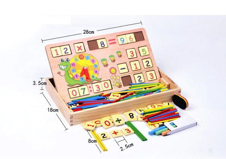 wooden number card box