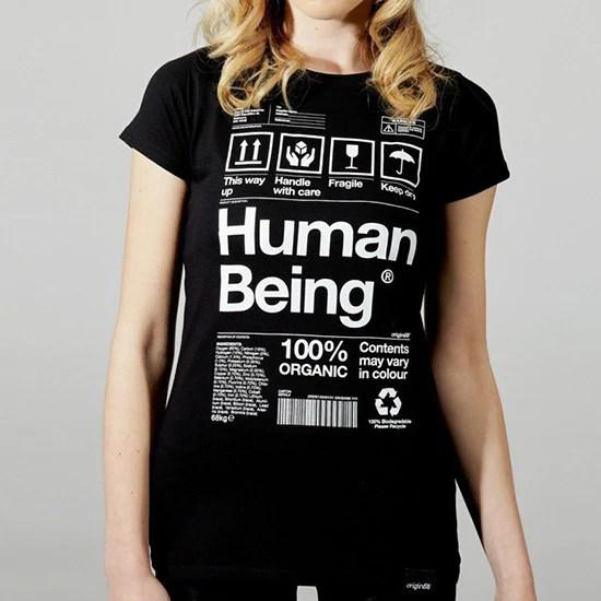 Human Being Tshirt  Black  Origin68