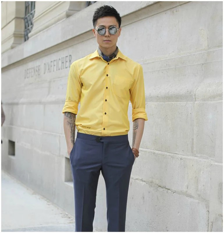 coloured shirt summer men style