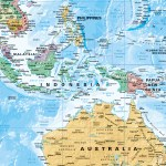 Buy World Supermap On Canvas Pacific Centred Wall Map Mapworld