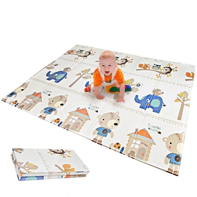tapis de jeu double face pour bebe 150x200