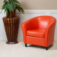 Newport Rocking Chair Massage Nyc Orange Leather Club  Gdf Studio