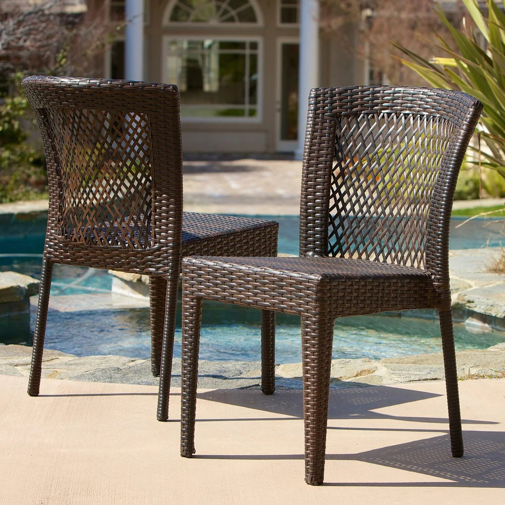 Outdoor Wicker Dining Chairs