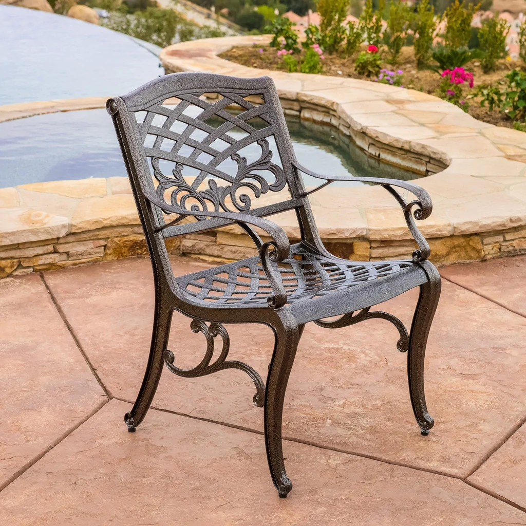 Covington Outdoor 5pcs Cast Aluminum Dining Set Great