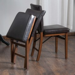 Folding Chair Leather Tall Dining Room Chairs Rosalynn Brown Set Of 2