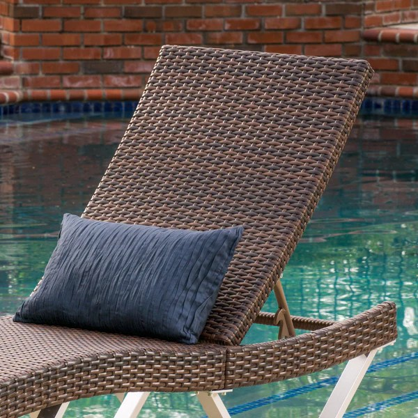 wicker chaise lounge chairs outdoor chair covers for christmas manuela single multibrown gdf studio