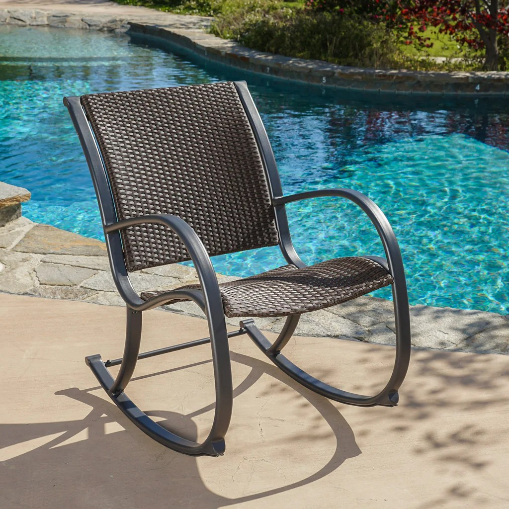 wicker rocking chairs outdoor etsy folding chair covers leann dark brown  gdf studio