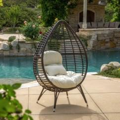 Teardrop Swing Chair Plywood Molded Dermot Multibrown Wicker Lounge W Cushion