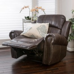 Darvis Leather Recliner Club Chair Brown Christopher Knight Home Small Table And Chairs For Kitchen Harbor Glider Great