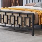 Dawn Modern Iron King Bed Frame Gdfstudio