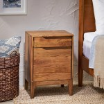 Nightstands Brown Acacia Wood Furniture Bedside Table 1 Drawer Cabinet Storage Cupboard Healthnation Com Ng
