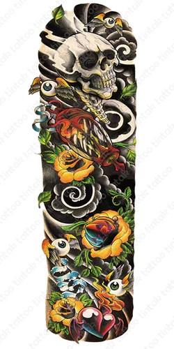 Eyeball With Wings Tattoo : eyeball, wings, tattoo, Sleeve, Temporary, Tattoos, Tagged,