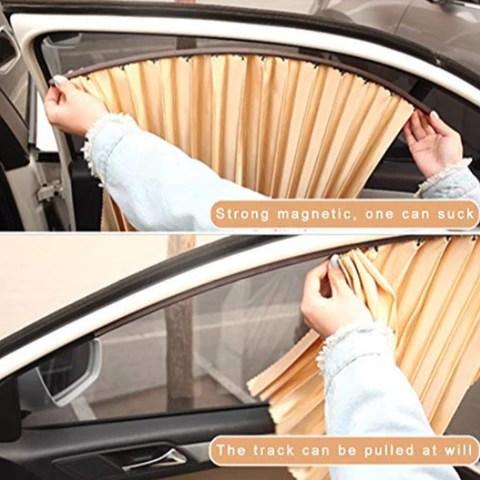 FIFY STORE Pare-soleil Magnétique Rétractable pour Voiture.