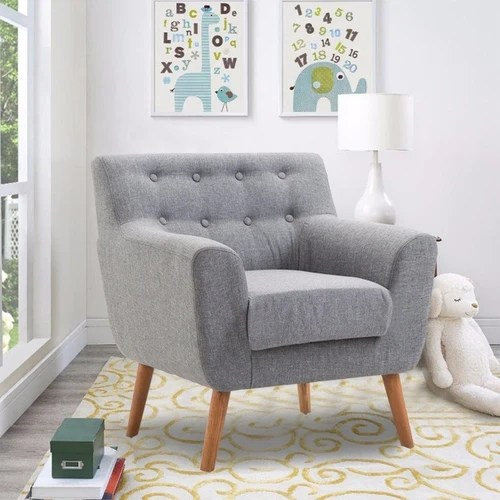 living room arm chair large rustic wall decor for tufted back fabric confortshop