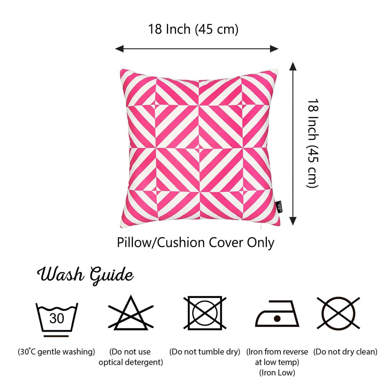 geometric pink diagram decorative throw pillow cover printed home decor 18 x18  [ 1500 x 1500 Pixel ]