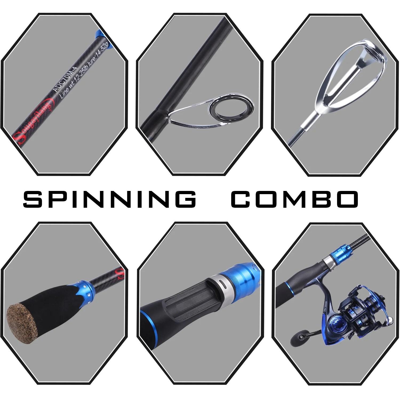 fishing combos rod and reel 1 8m 4 piece fishing rod creatorock [ 1500 x 1500 Pixel ]