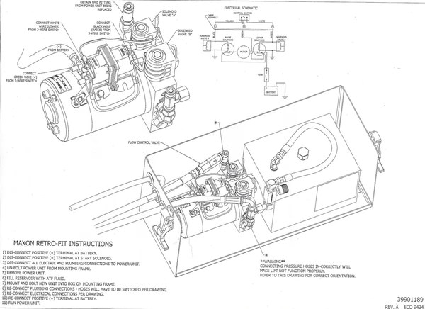 Anthony Liftgate Switch Wiring Diagram The Handbook To Replace Your Maxon Power Unit 267655 01