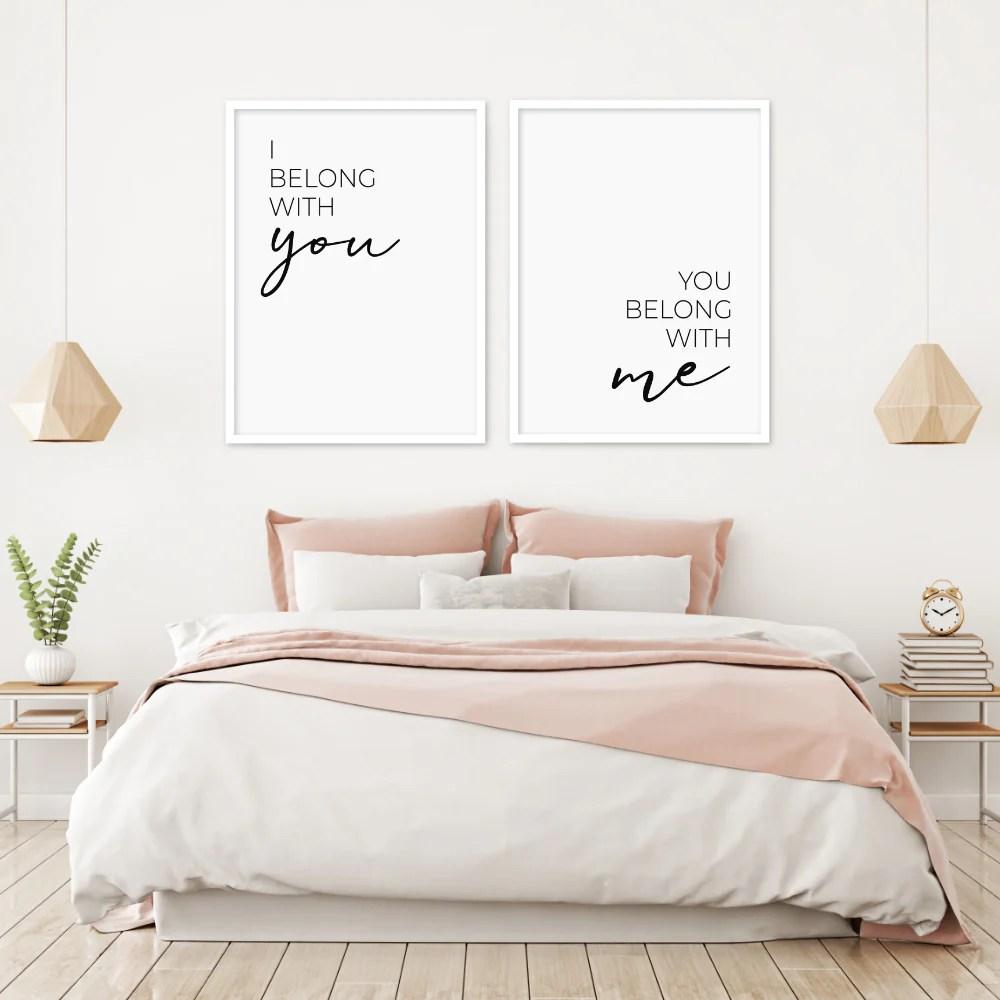 I Belong With You You Belong With Me Print Set Stylish Prints Posters Modiprints